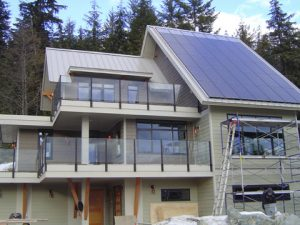 Netzero House Glass Railing Installation Whistler