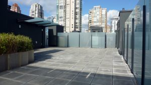 Percival Yaletown Roof Top Deck Glass Railing