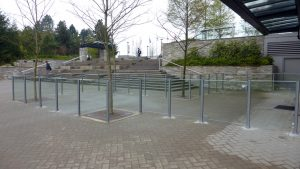 SFU Exterior Glass Railing Installation
