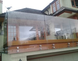 Deck Seamless Frameless Railing Glass Installation Vancouver