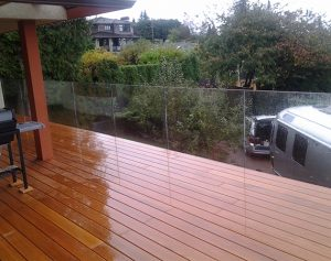 Vancouver Deck Seamless Frameless Railing Glass Deck Installation
