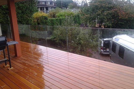 Vancouver Deck Seamless Frameless Railing Glass Deck Installation